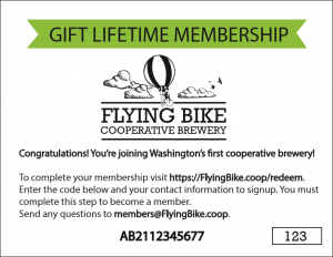 Gift Membership Redemption Card